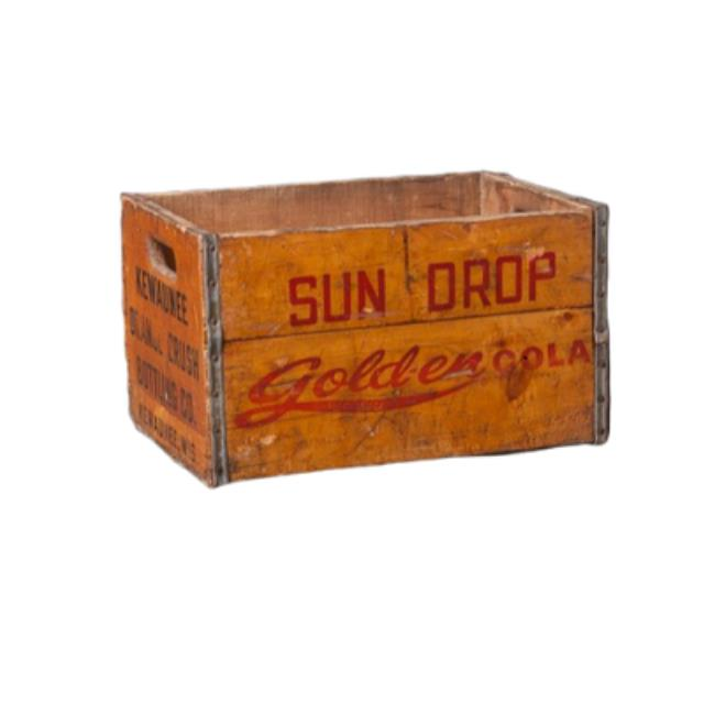 Where to find VINTAGE  FRUIT CRATE - SUN DROP - LG in Franklin