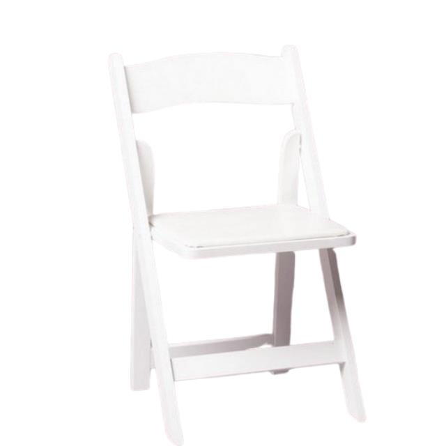 Where to find WHITE RESIN FOLDING CHAIR in Franklin