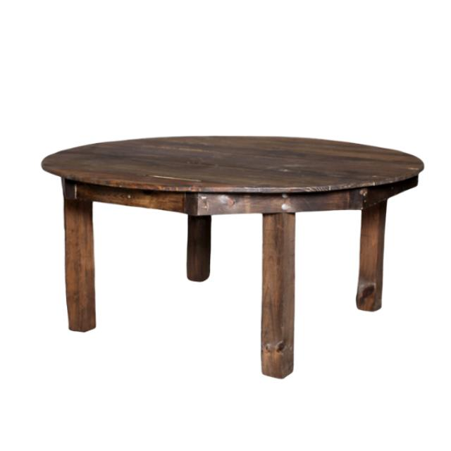 Fruitwood round farm table Rentals Nashville TN Where to rent