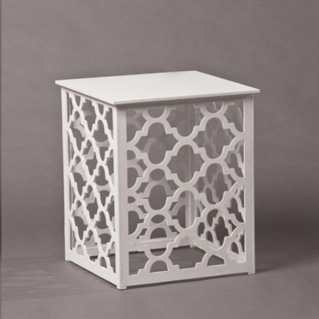 Where to find TRELLIS WHITE SIDE TABLE - 14.75 X 20 IN in Nashville