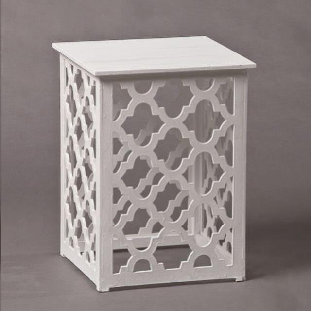 Where to find TRELLIS WHITE SIDE TBL  19 X 22 in Franklin