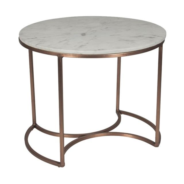 Where to find CAPRIANO MARBLE   COPPER ACCENT TABLE in Nashville