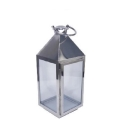 Rental store for SILVER BURNISHED SQUARE TABLETOP LANTERN in Nashville TN