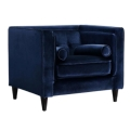 Rental store for SAYLOR NAVY VELVET CHAIR in Nashville TN