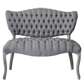 Rental store for TABBY TUFTED GREY LINEN LOVESEAT in Nashville TN