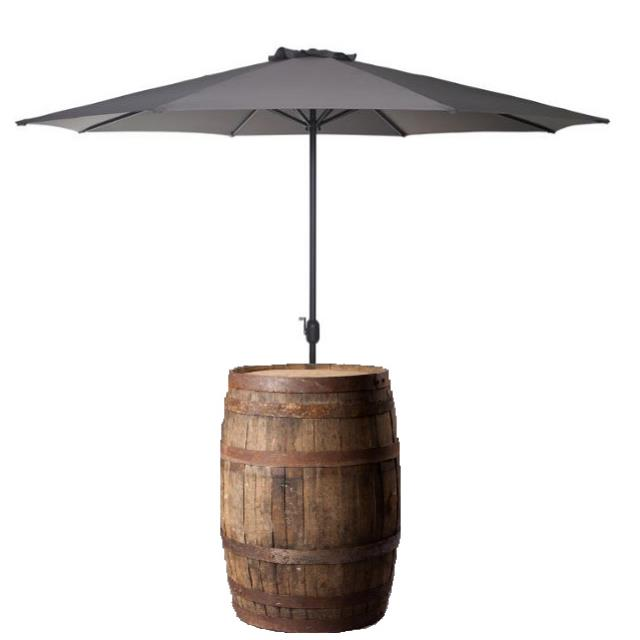 Where to find CHARCOAL UMBRELLA W  WHISKEY BARREL in Nashville