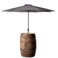 Rental store for CHARCOAL UMBRELLA W  WHISKEY BARREL in Nashville TN